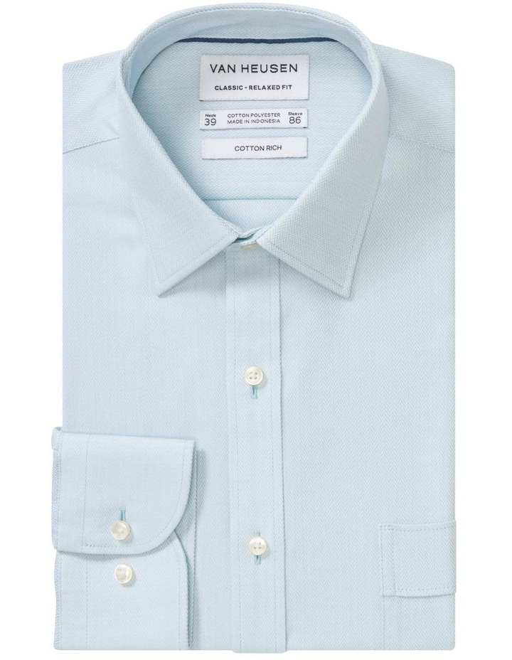 Self Herringbone Business Shirt image 3