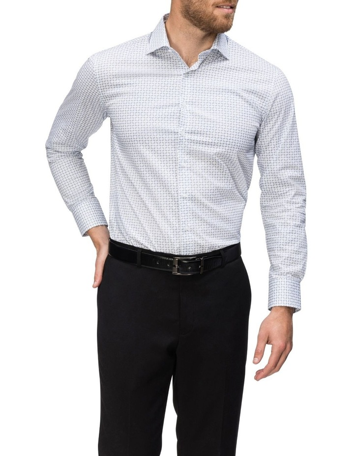 Blue & White Circle Print Commuter Business Shirt image 2