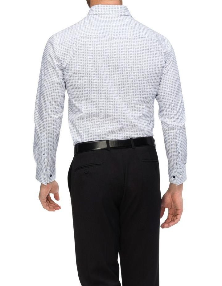 Blue & White Circle Print Commuter Business Shirt image 3
