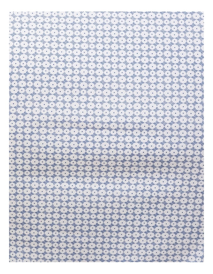 Blue & White Circle Print Commuter Business Shirt image 4