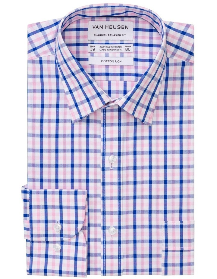 Pink/Navy Check Business Shirt image 1