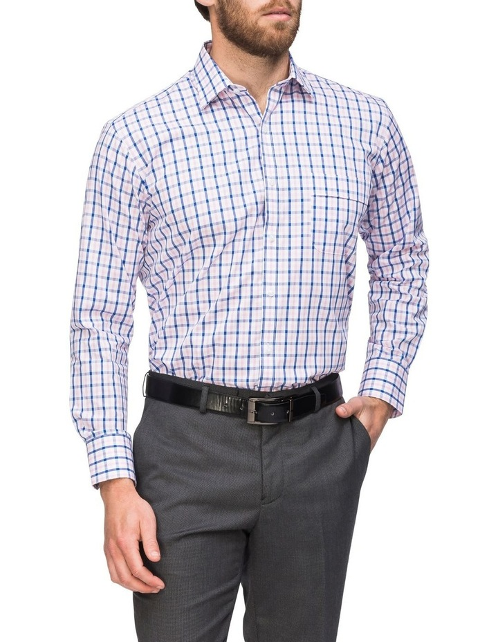 Pink/Navy Check Business Shirt image 2