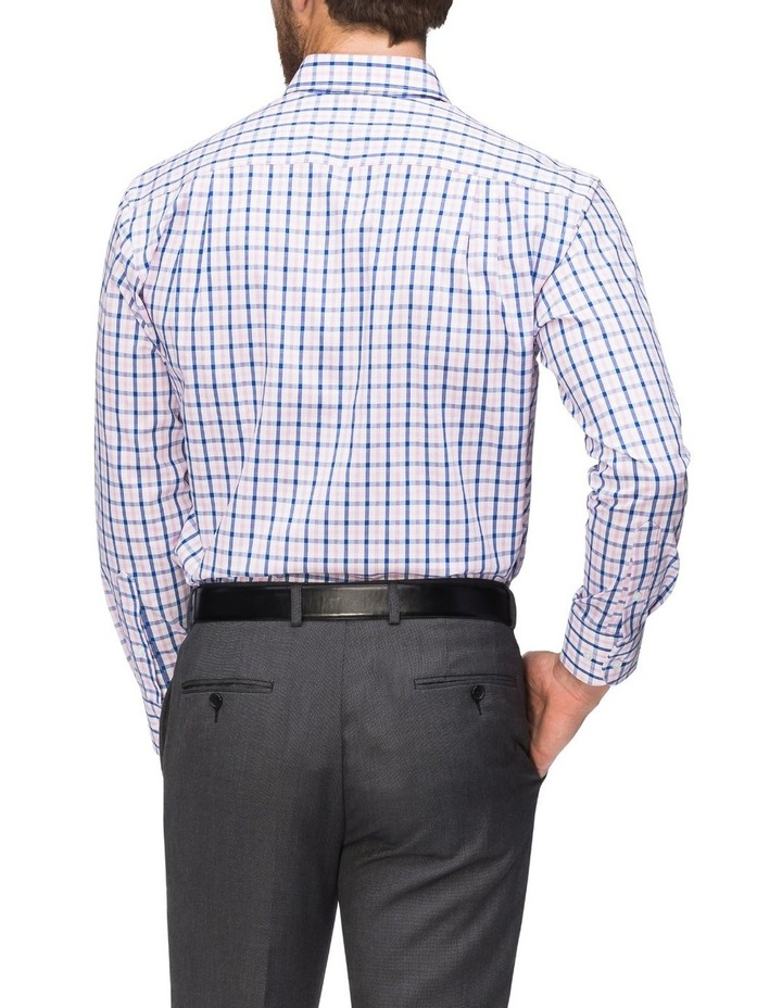 Pink/Navy Check Business Shirt image 3