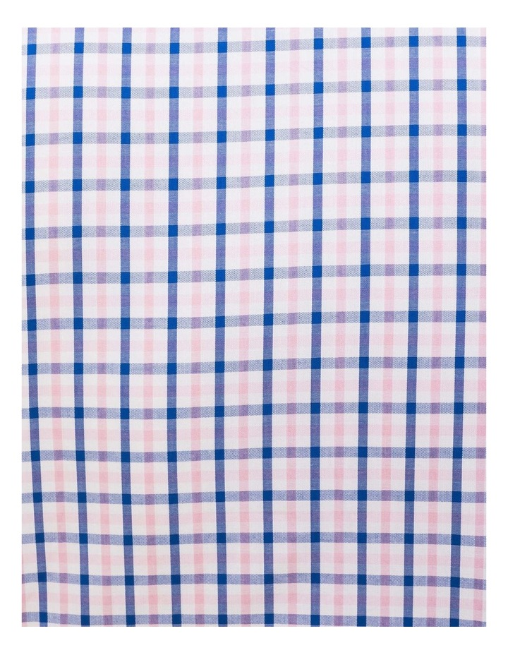 Pink/Navy Check Business Shirt image 4