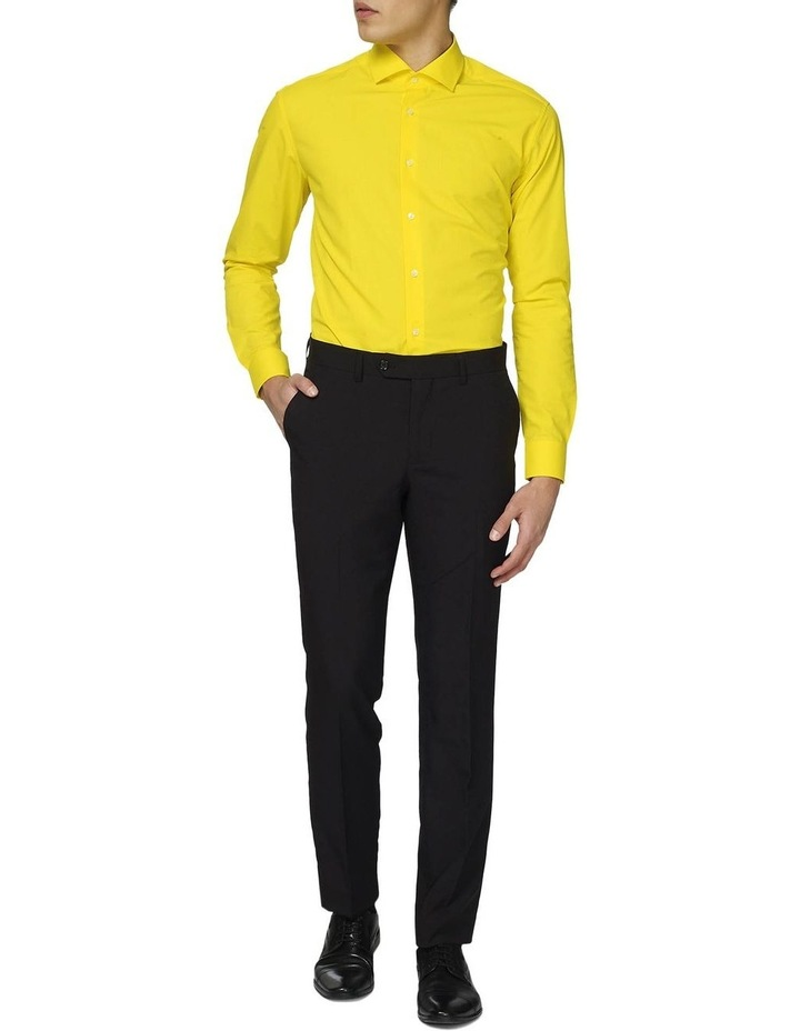 Men's Yellow Fellow Solid Color Shirt image 1