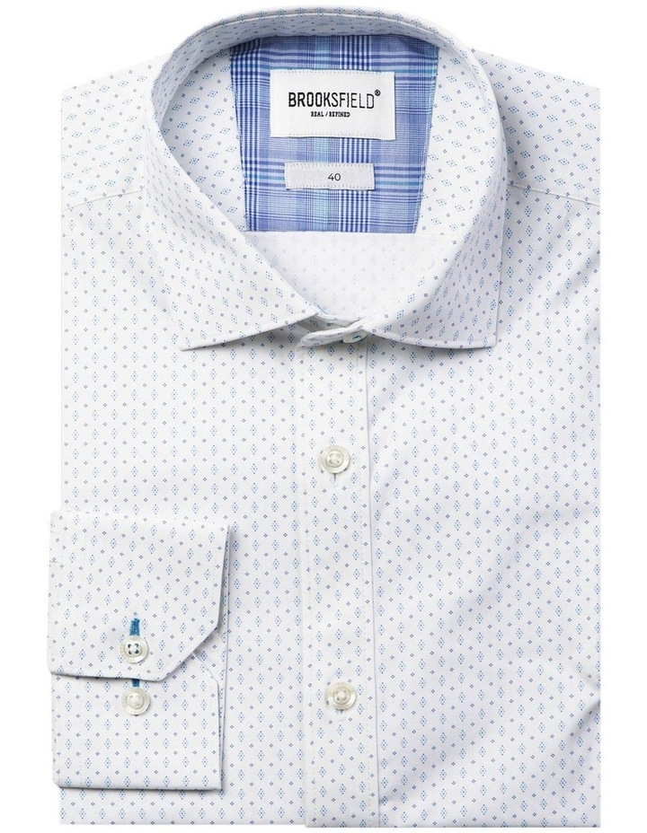 Career Abstract Dot Print Business Shirt image 4