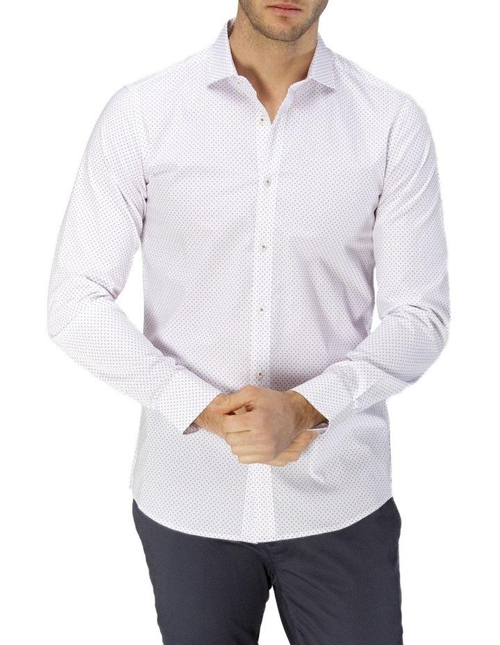 Career Abstract Print Business Shirt image 1