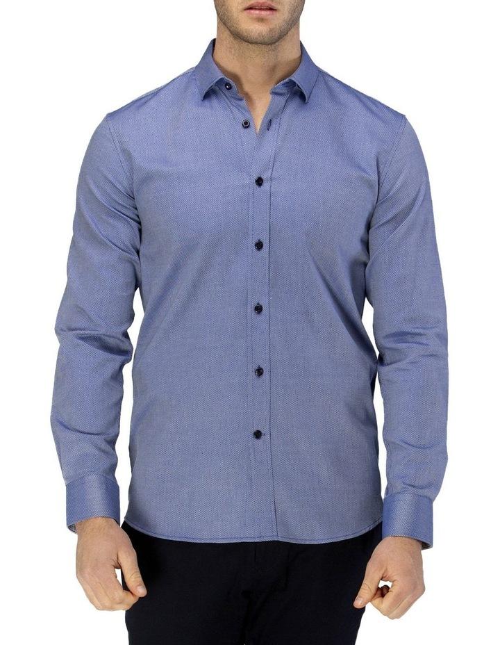 Luxe Diamond Textured Business Shirt image 1