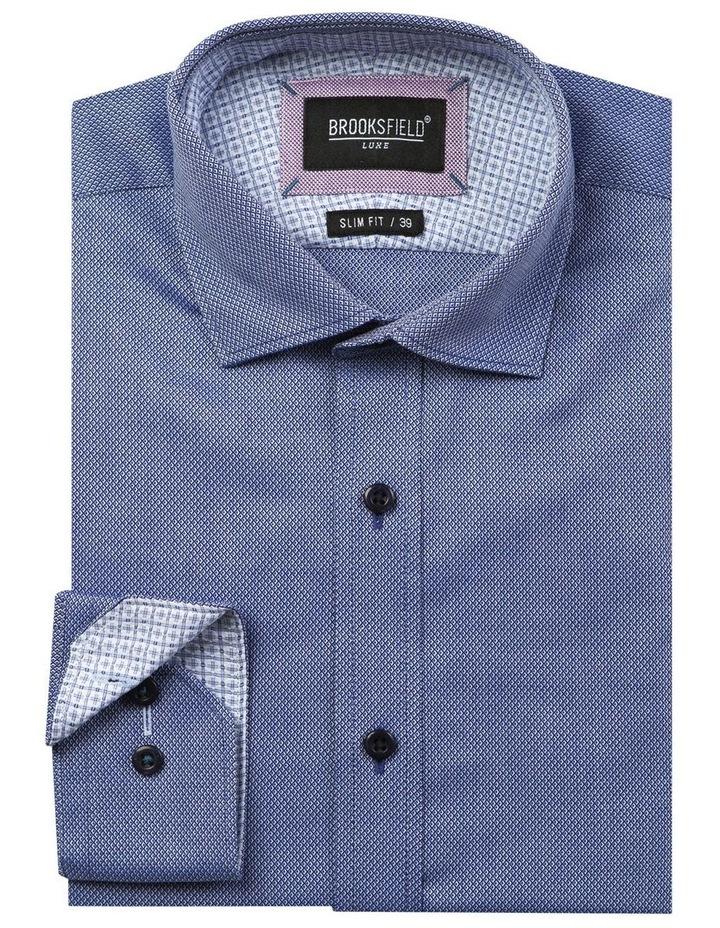 Luxe Diamond Textured Business Shirt image 4