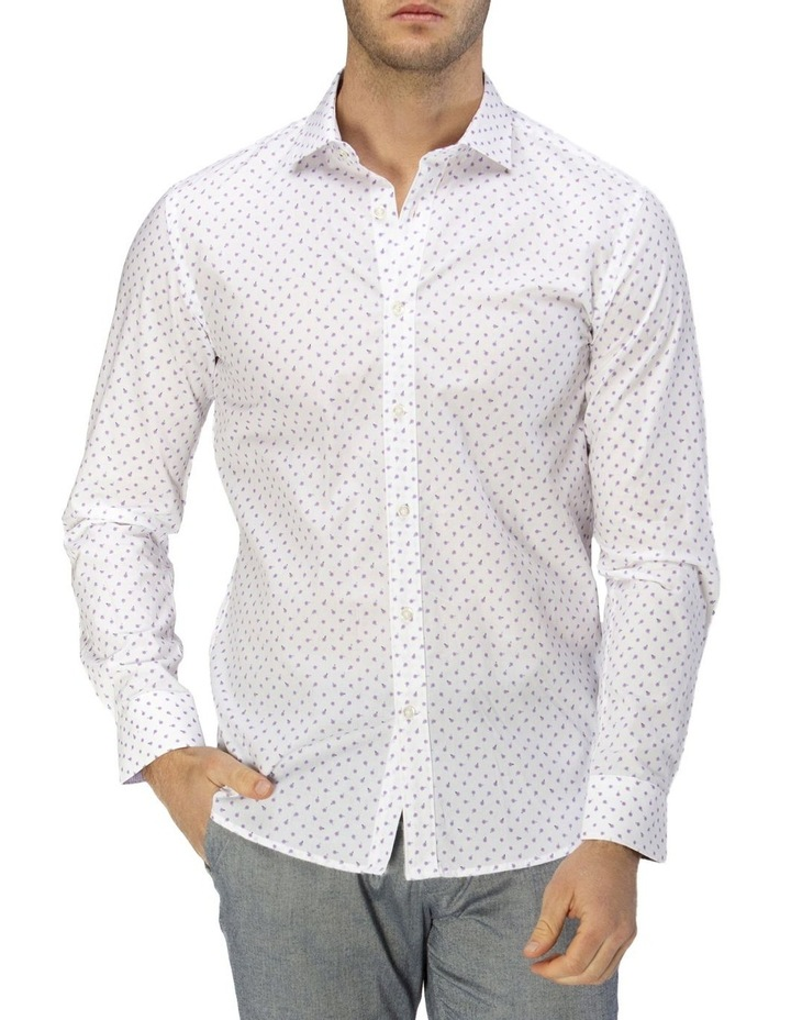 Luxe Scattered Flower Print Business Shirt image 1