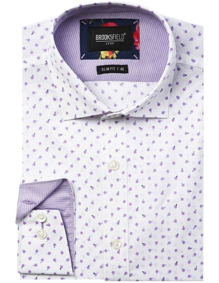 Luxe Scattered Flower Print Business Shirt image 4
