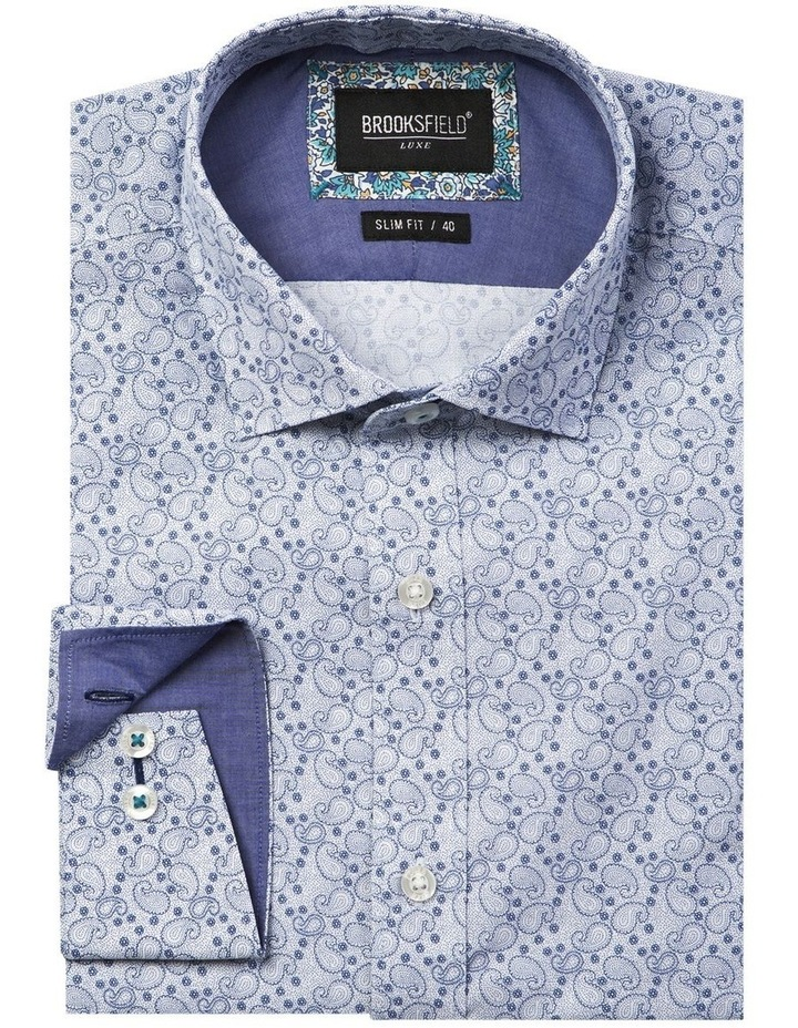 Luxe Paisley Print Business Shirt image 4