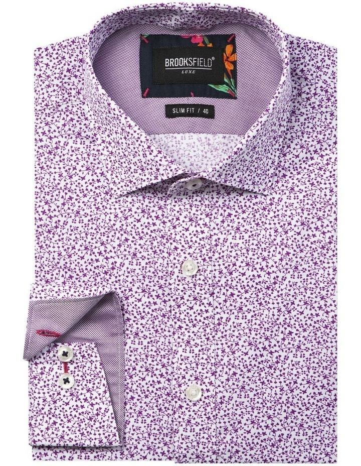 Luxe Vine Leaf Print Business Shirt image 4