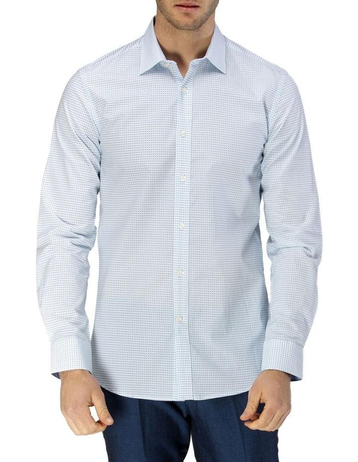 Luxe Two-tone Diamond Print Business Shirt image 1