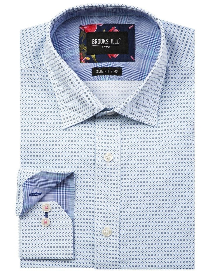 Luxe Two-tone Diamond Print Business Shirt image 4