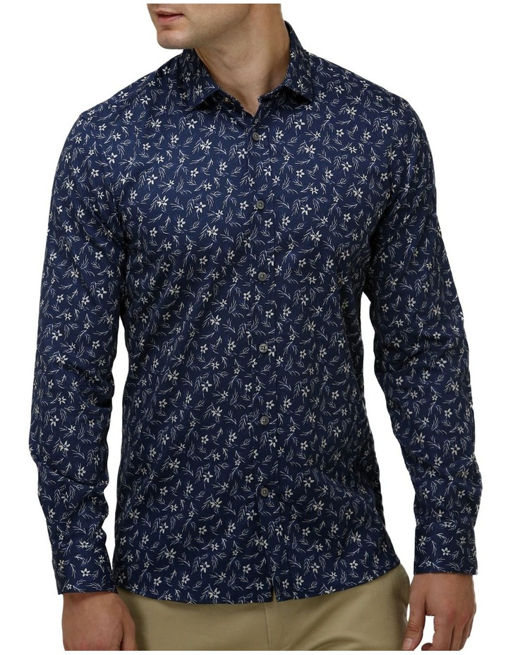 Floral Print Satin Business Shirt image 1