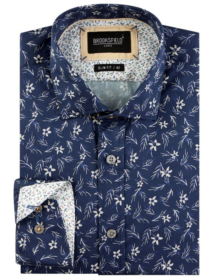 Floral Print Satin Business Shirt image 4