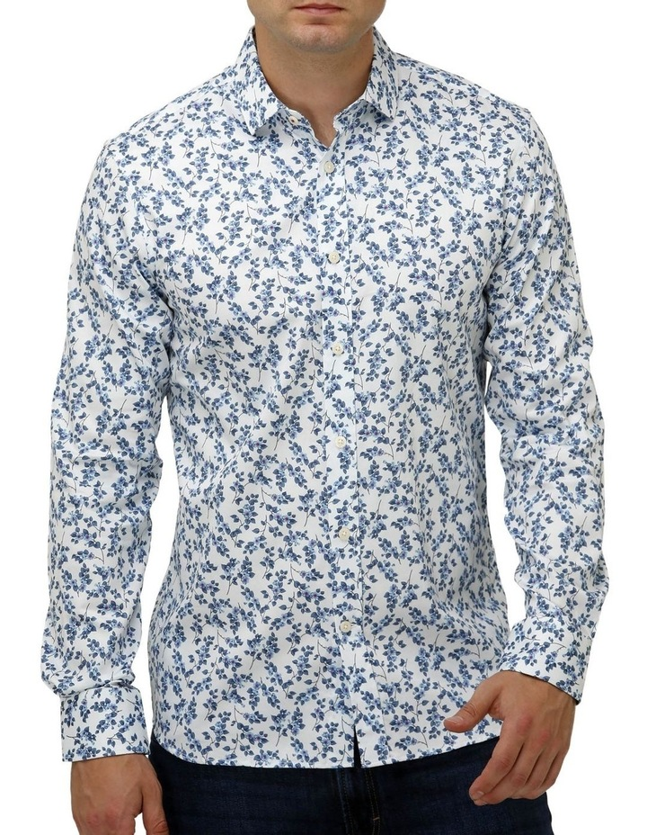 Floral Print Satin Business Shirt image 1