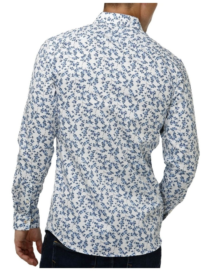 Floral Print Satin Business Shirt image 3