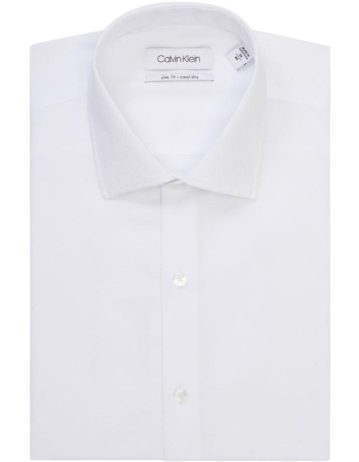 White Self Dobby Cotton Touch Shirt image 1