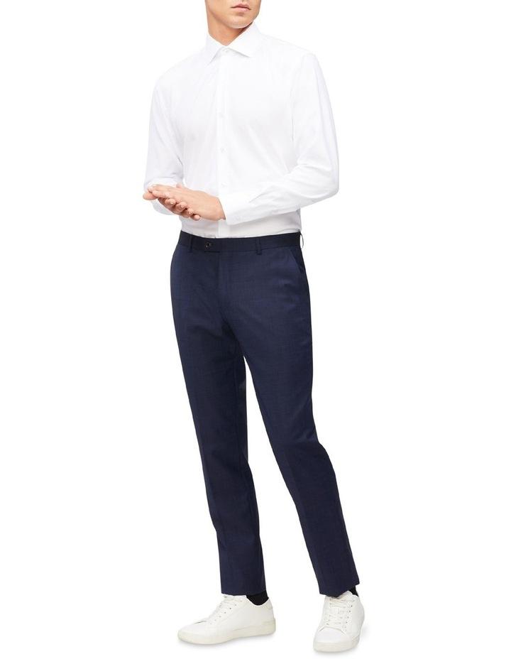 White Self Dobby Cotton Touch Shirt image 2
