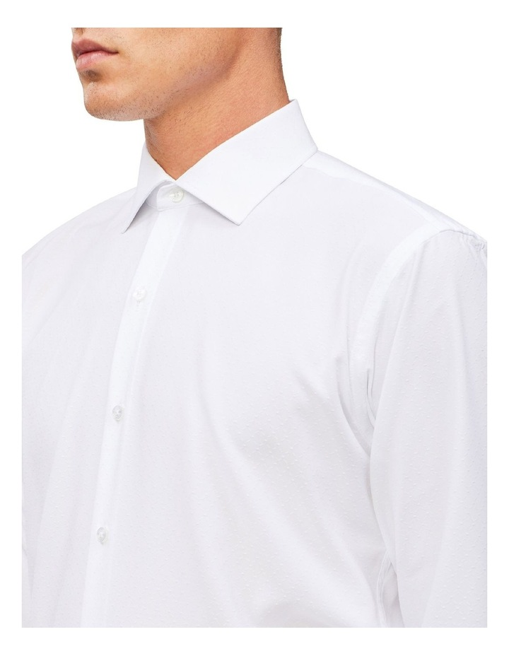 White Self Dobby Cotton Touch Shirt image 4