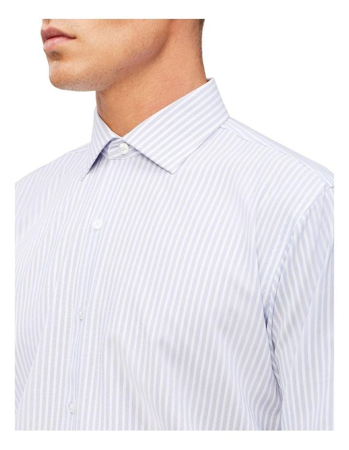Blue & White Stripe Cotton Touch Shirt image 4