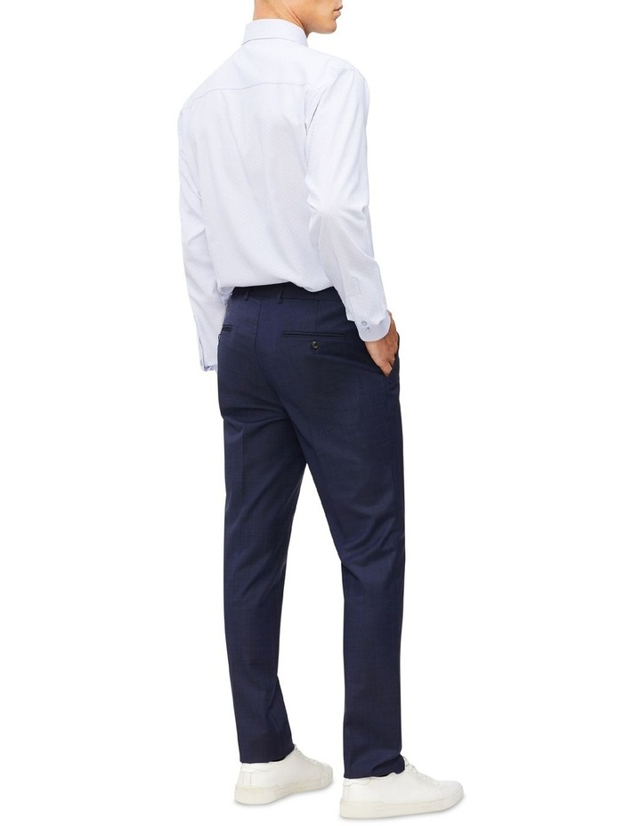 Blue Microcheck With Dobby Cotton Touch Shirt image 3