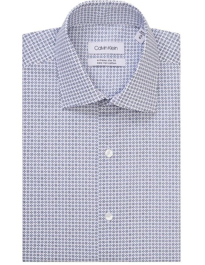 White Ground Navy Print Shirt image 1