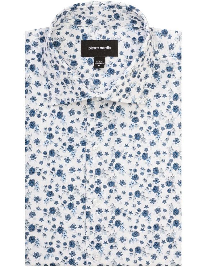 Indigo And Charcoal Floral Print Shirt image 1
