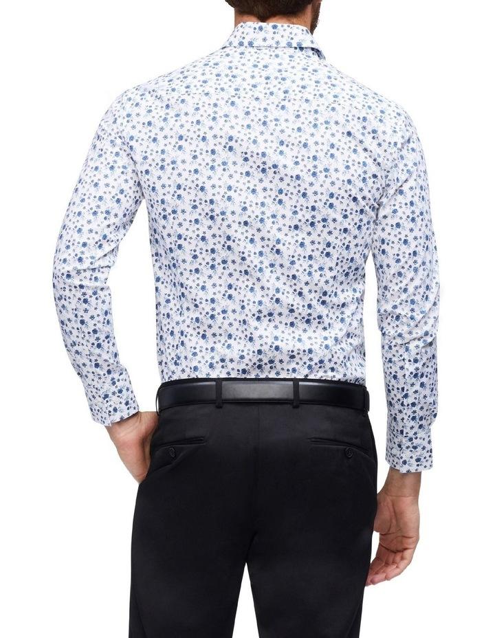 Indigo And Charcoal Floral Print Shirt image 3