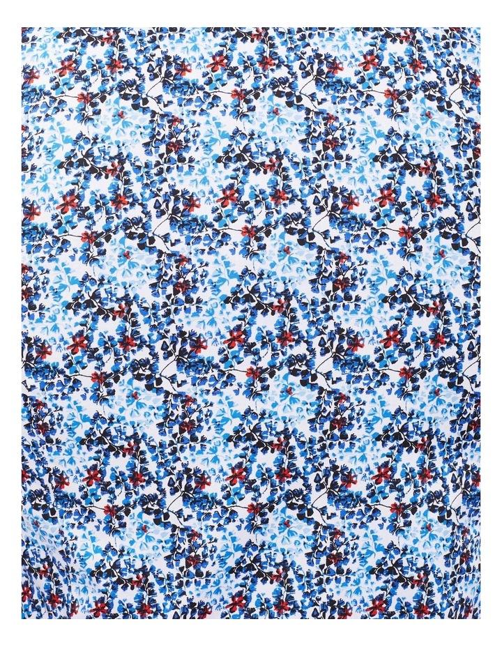White Ground Cobalt & Navy Print Shirt image 2