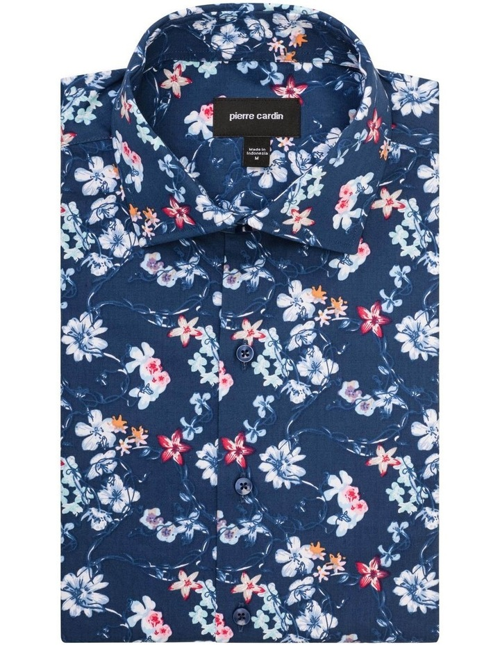 Navy Ground White & Blue Floral Shirt image 1