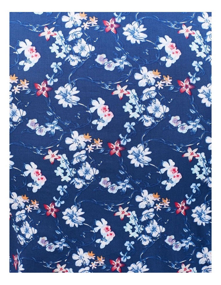 Navy Ground White & Blue Floral Shirt image 2