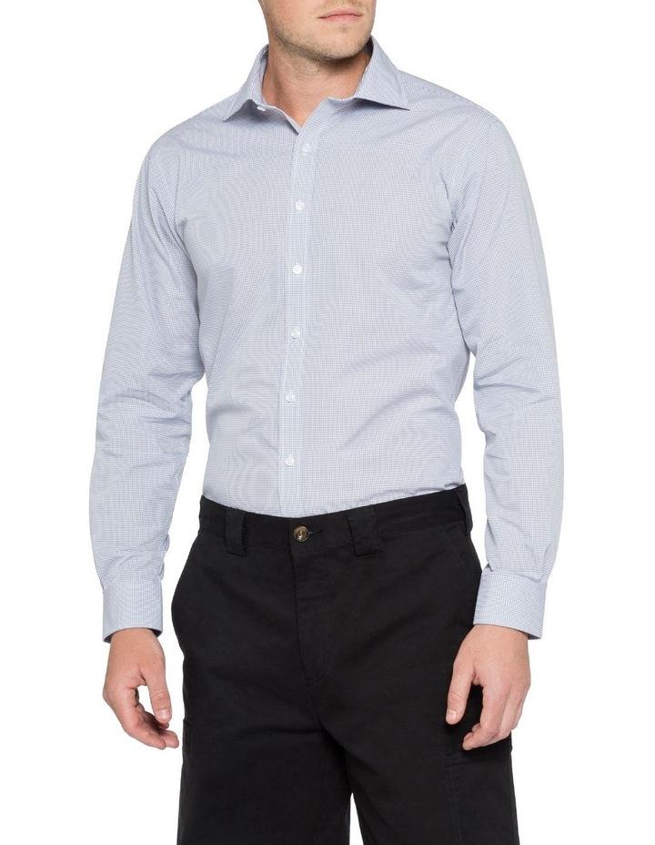 Grey Gingham Check Business Shirt image 2