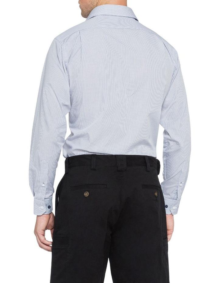 Grey Gingham Check Business Shirt image 3