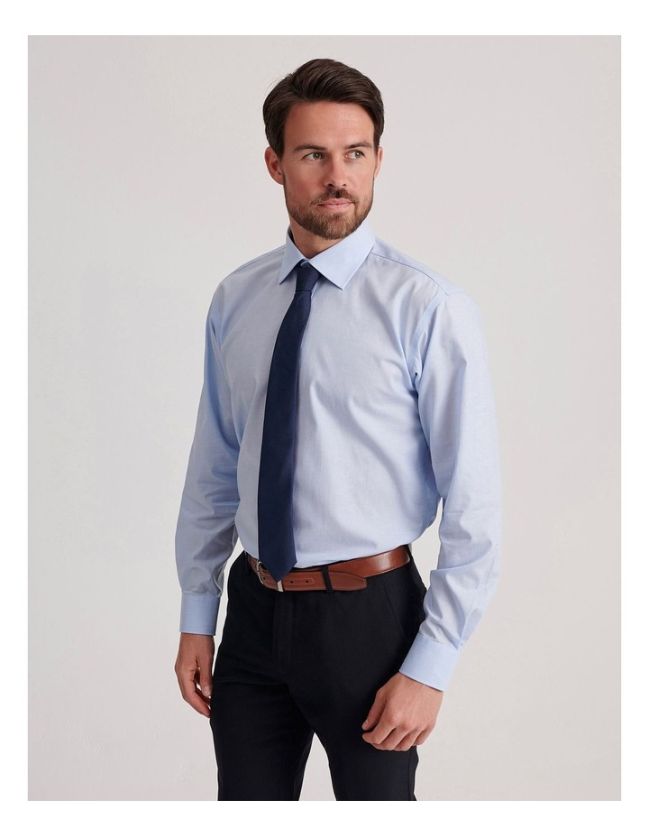 Tailored End On End Poplin Business Shirt image 3