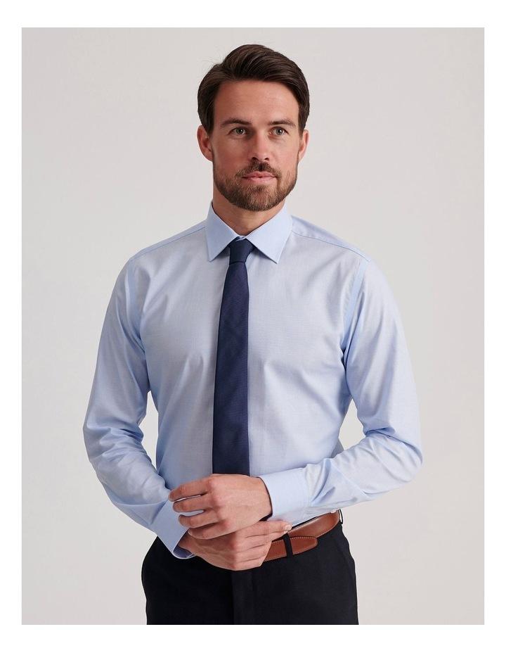 Slim End On End Poplin Business Shirt image 1