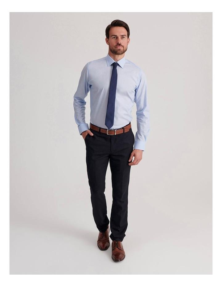 Slim End On End Poplin Business Shirt image 2