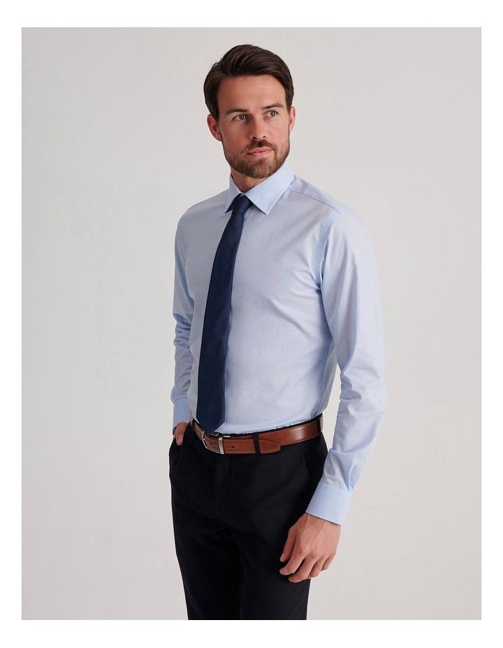 Slim End On End Poplin Business Shirt image 3