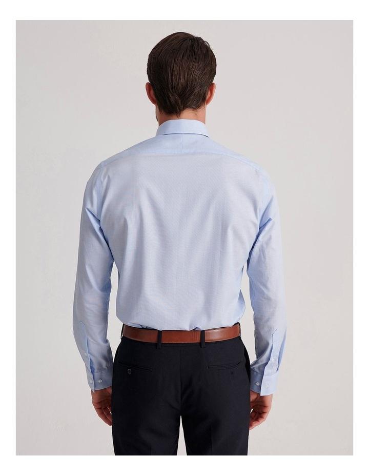 Slim End On End Poplin Business Shirt image 4