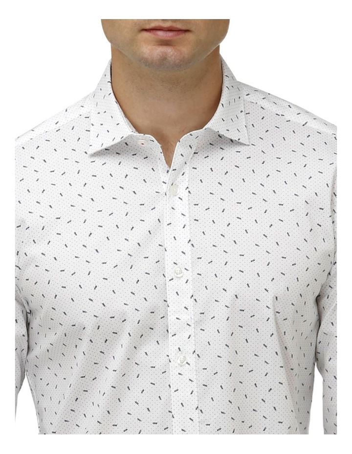 Stretch Abstract Leaf Print Business Shirt image 2