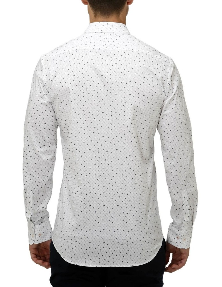 Stretch Abstract Leaf Print Business Shirt image 3