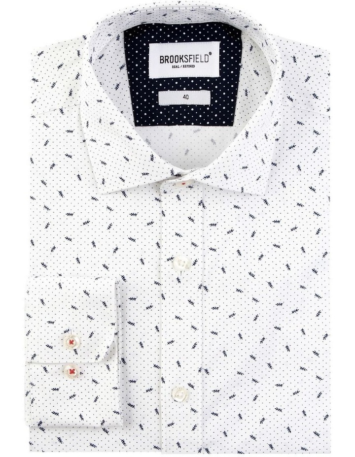 Stretch Abstract Leaf Print Business Shirt image 4