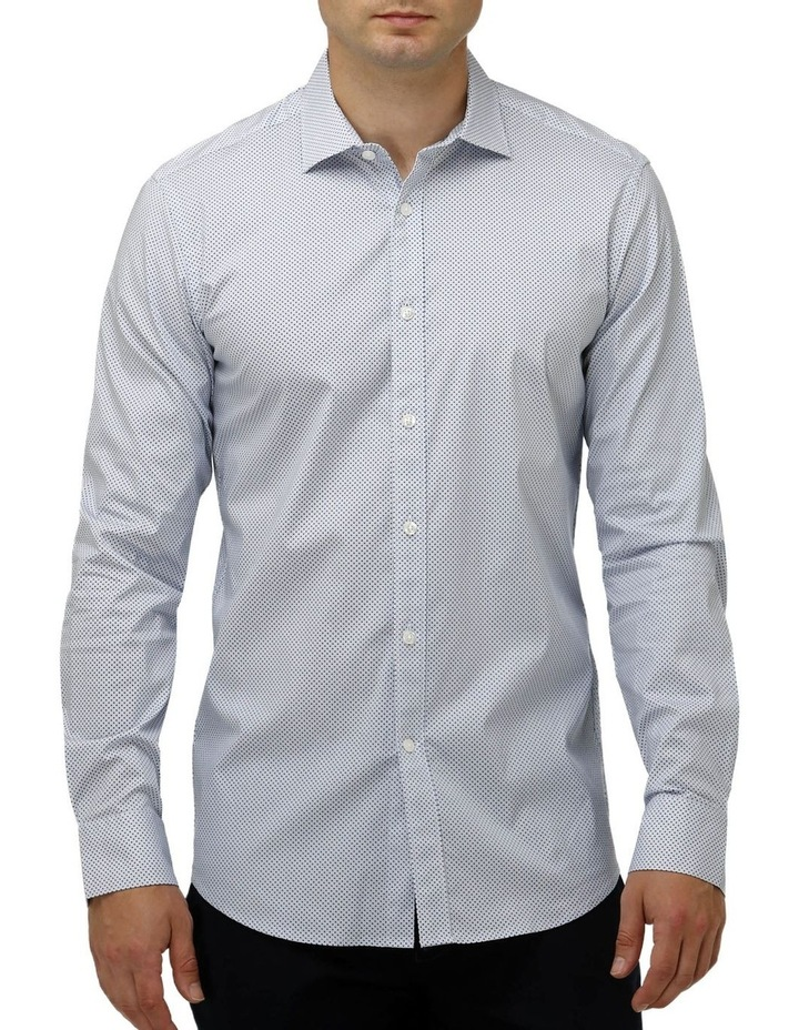 Stretch Intricate Dot Print Business Shirt image 1