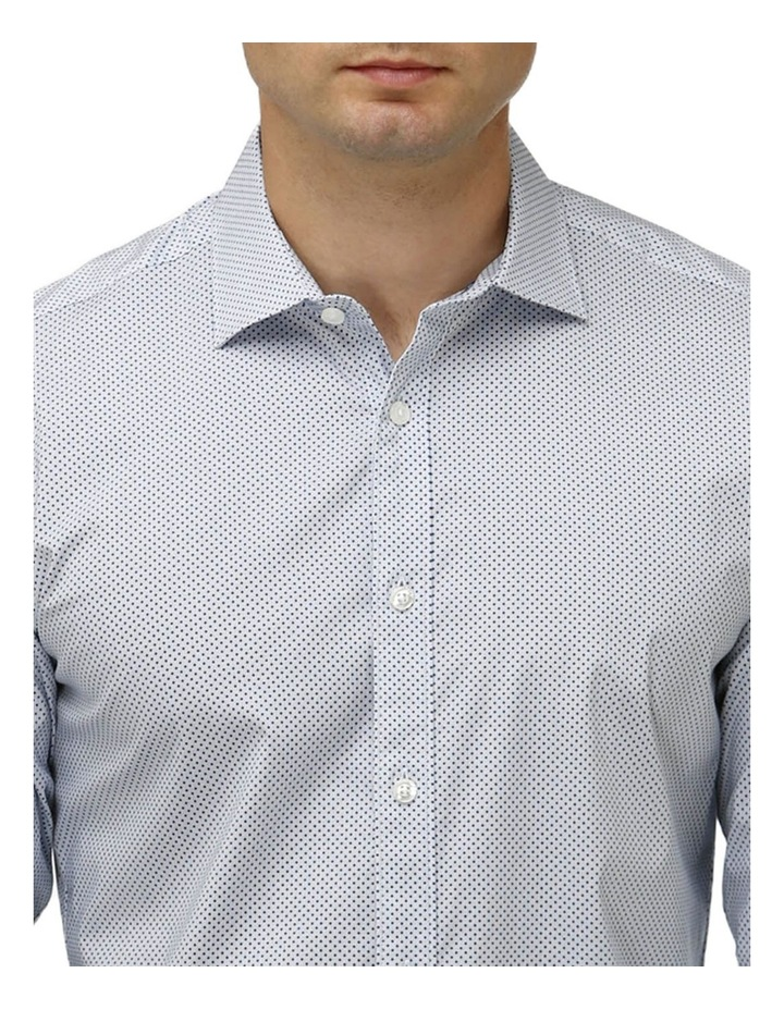 Stretch Intricate Dot Print Business Shirt image 2