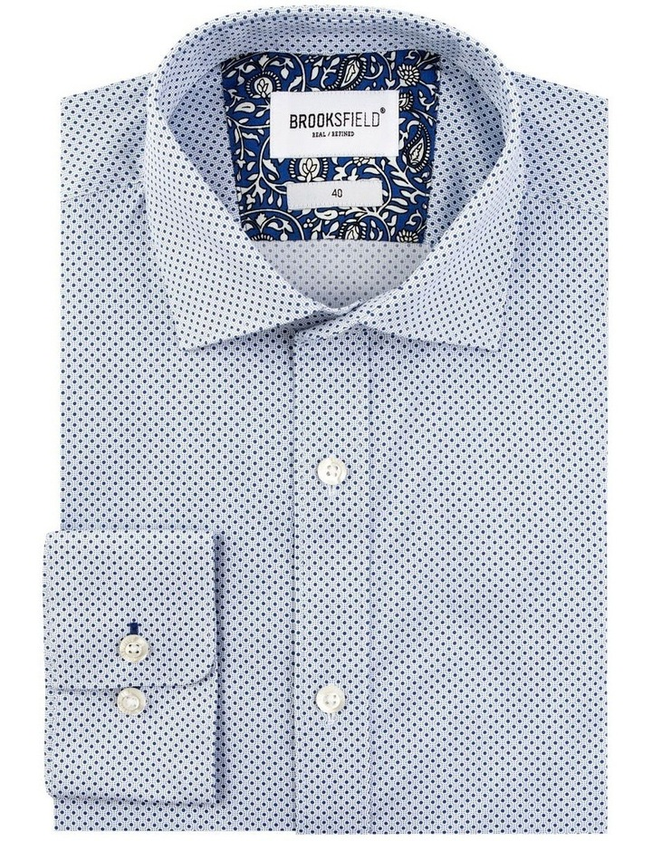 Stretch Intricate Dot Print Business Shirt image 4