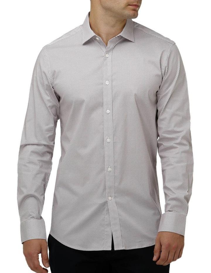Stretch Intricate Dot Print Business Shirt image 1