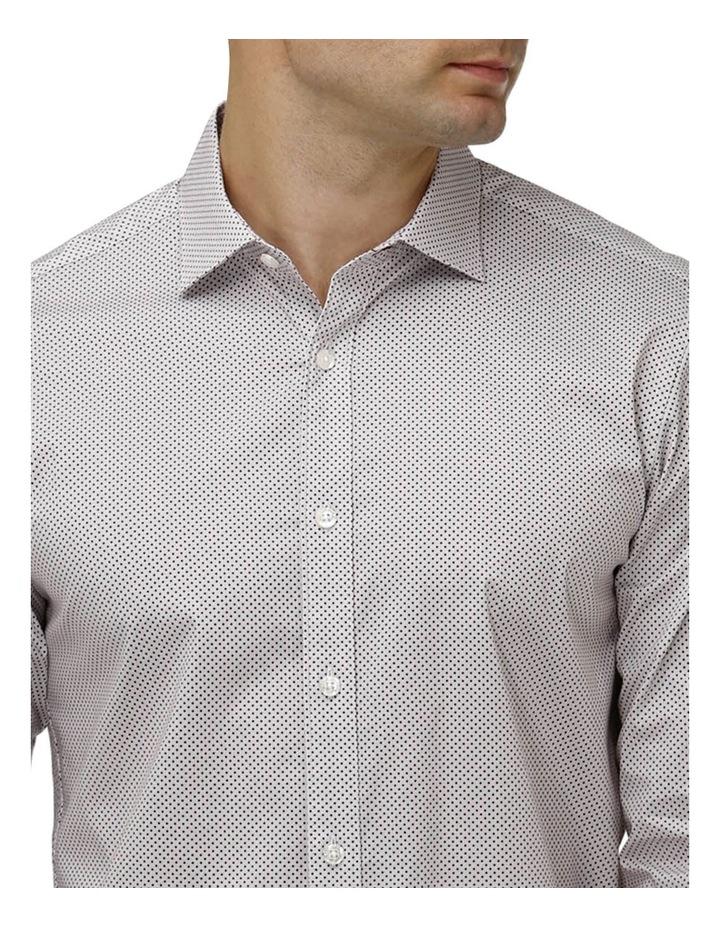 Stretch Intricate Dot Print Business Shirt image 2