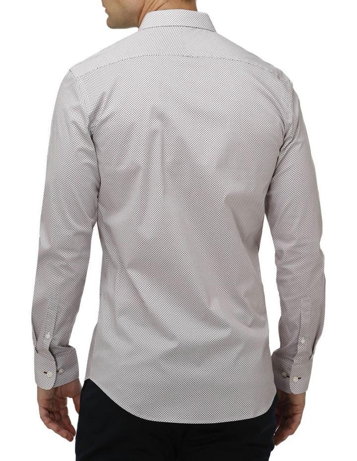 Stretch Intricate Dot Print Business Shirt image 3
